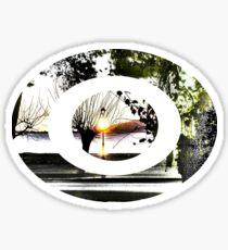 surrealistic arboreal morning Sticker