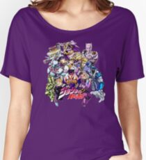 JoJo's Bizarre Adventure: Diamond Is Unbreakable Characters Women's Relaxed Fit T-Shirt