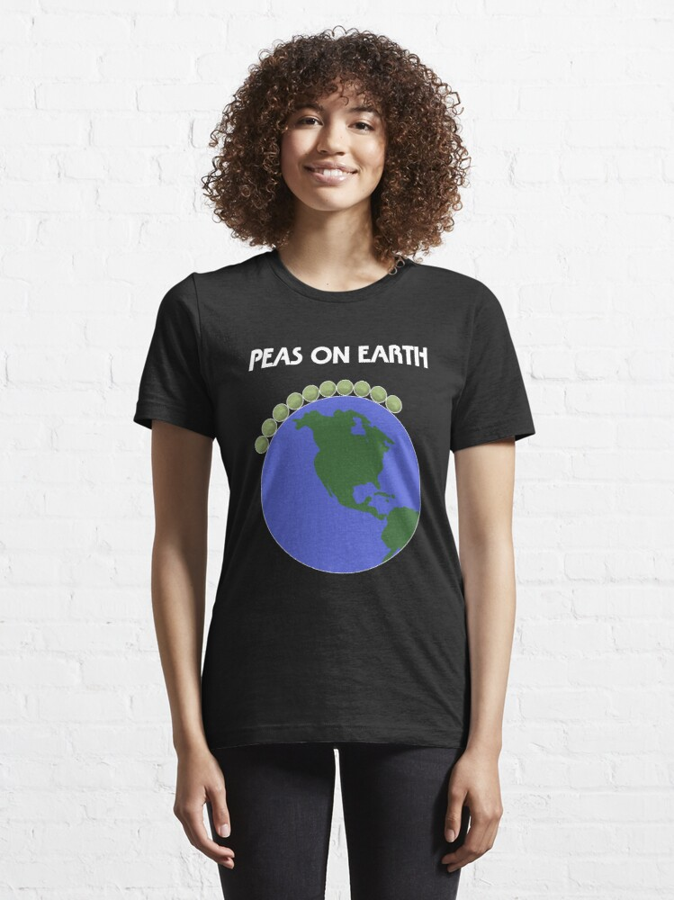 Alternate view of Peas On Earth Essential T-Shirt