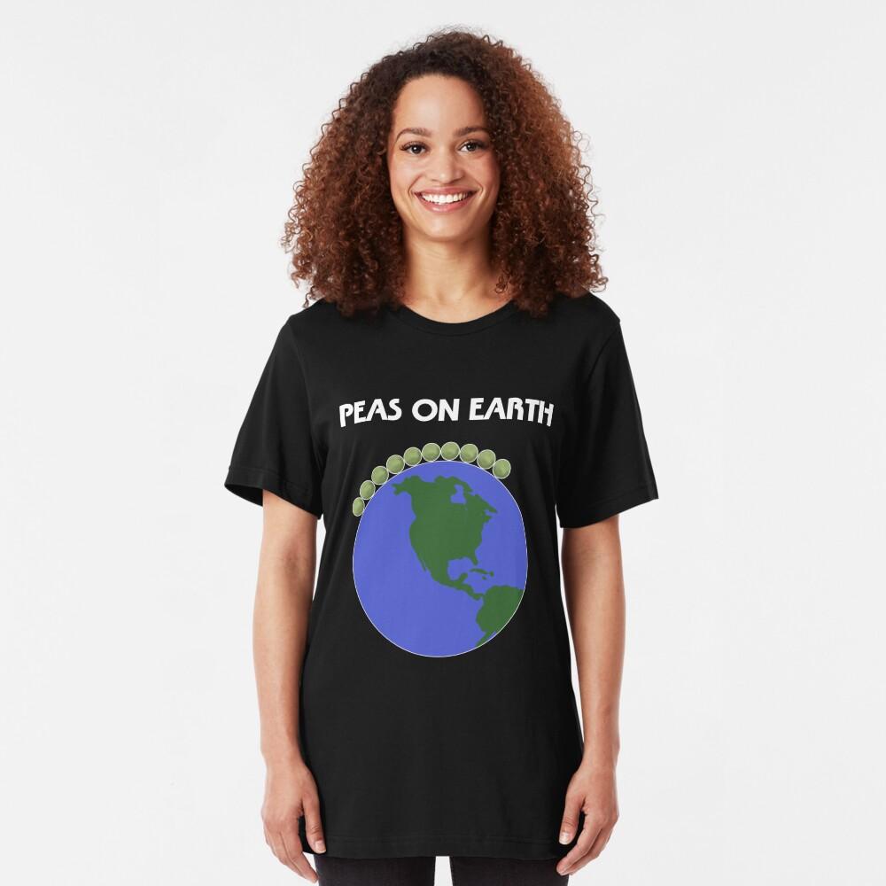 Peas On Earth Slim Fit T-Shirt