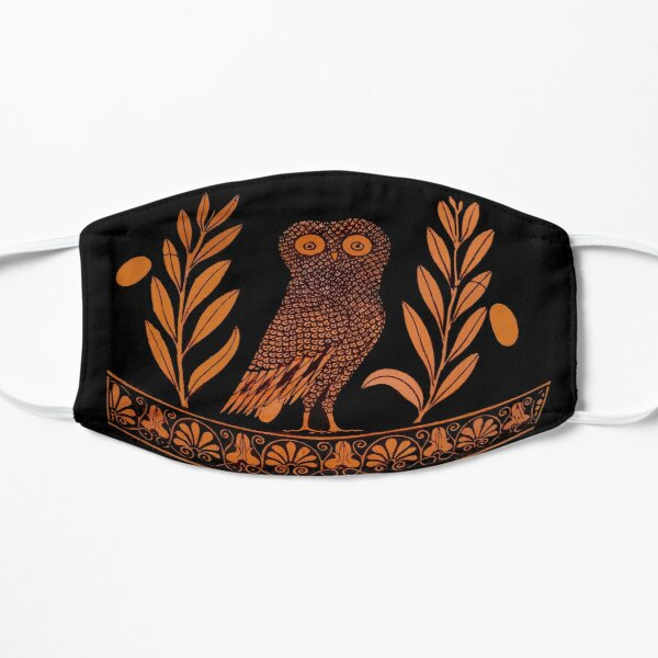 Attic Red-Figure Kalpis Owl Athena Olive Mask