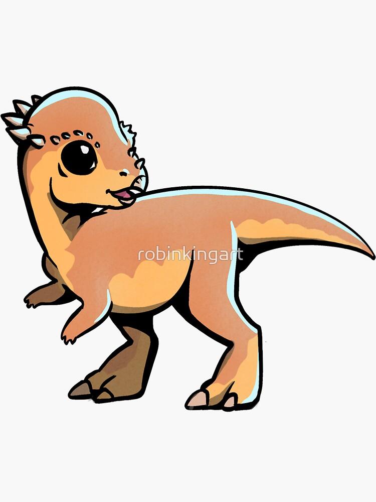 Pachycephalosaurus by robinkingart