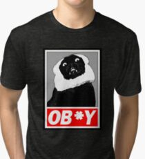 Ob*y breaded cat Tri-blend T-Shirt