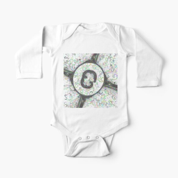 Fractal Storms 3 - Alternate version Long Sleeve Baby One-Piece