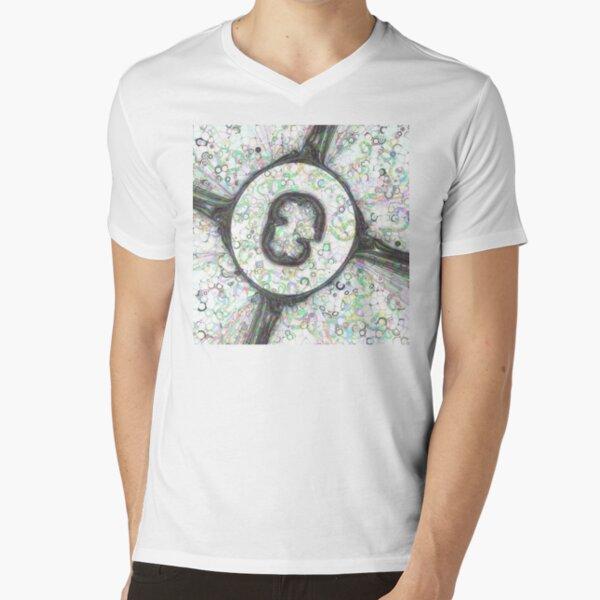 Fractal Storms 3 - Alternate version V-Neck T-Shirt
