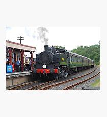 USA Class steam loco, Bodiam Photographic Print