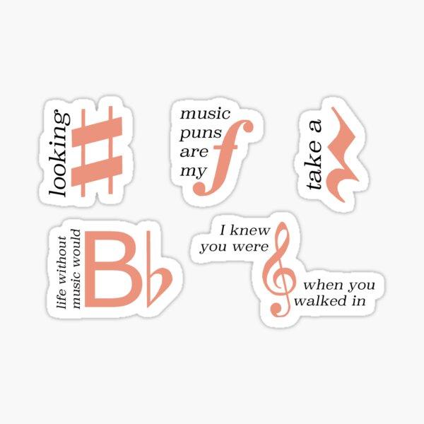 Music Puns Sticker