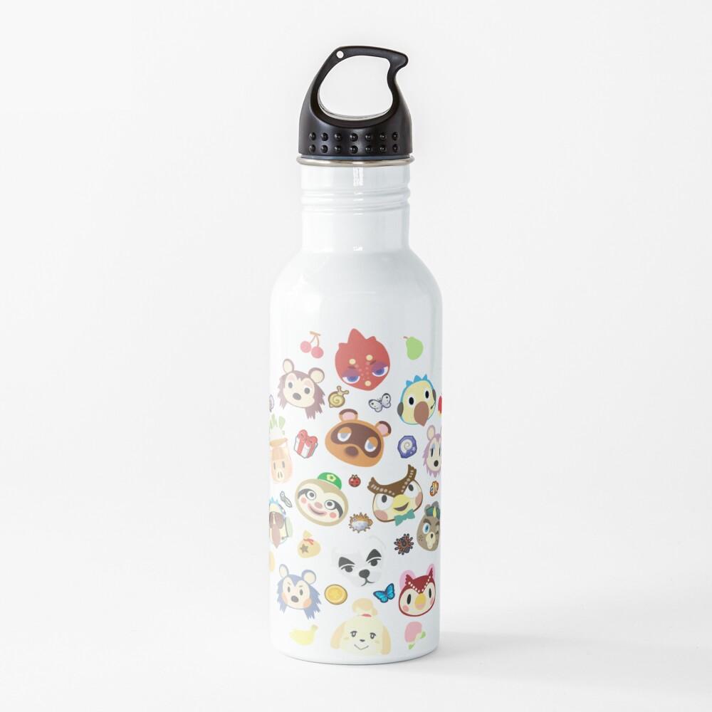 animal crossing cute villagers Water Bottle