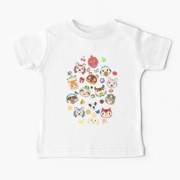 animal crossing cute villagers Camiseta para bebés
