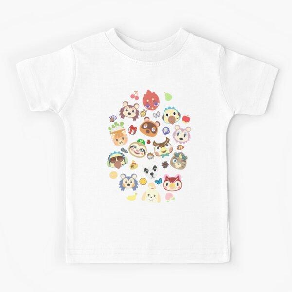 animal traversant des villageois mignons T-shirt enfant