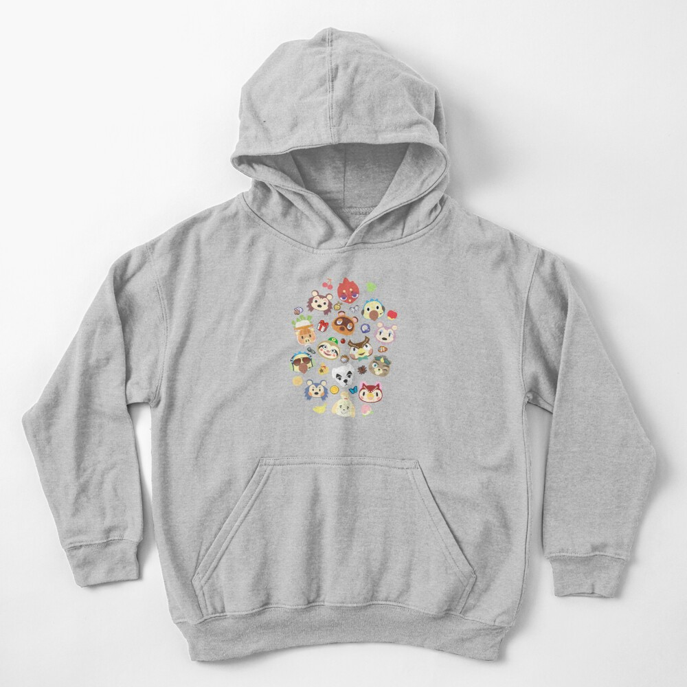 animal crossing cute villagers Kids Pullover Hoodie