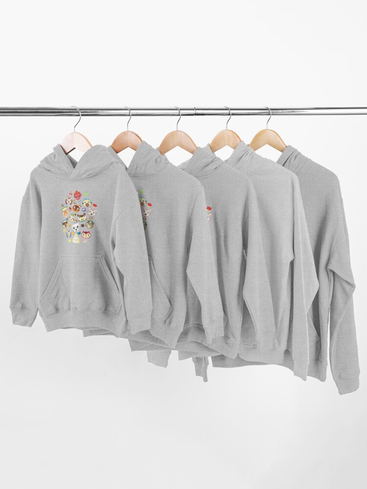 Alternate view of  animal crossing cute villagers Kids Pullover Hoodie