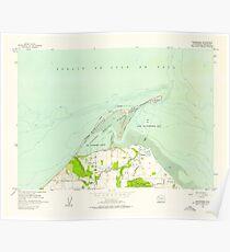 USGS Topo Map Washington State WA Dungeness 240901 1956 24000 Poster