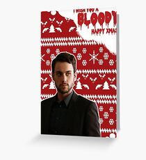 HTGAWM - Bloody good Christmas [Connor] Greeting Card