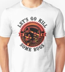 Biker Saying, Let's Go Kill Some Bugs T-Shirt