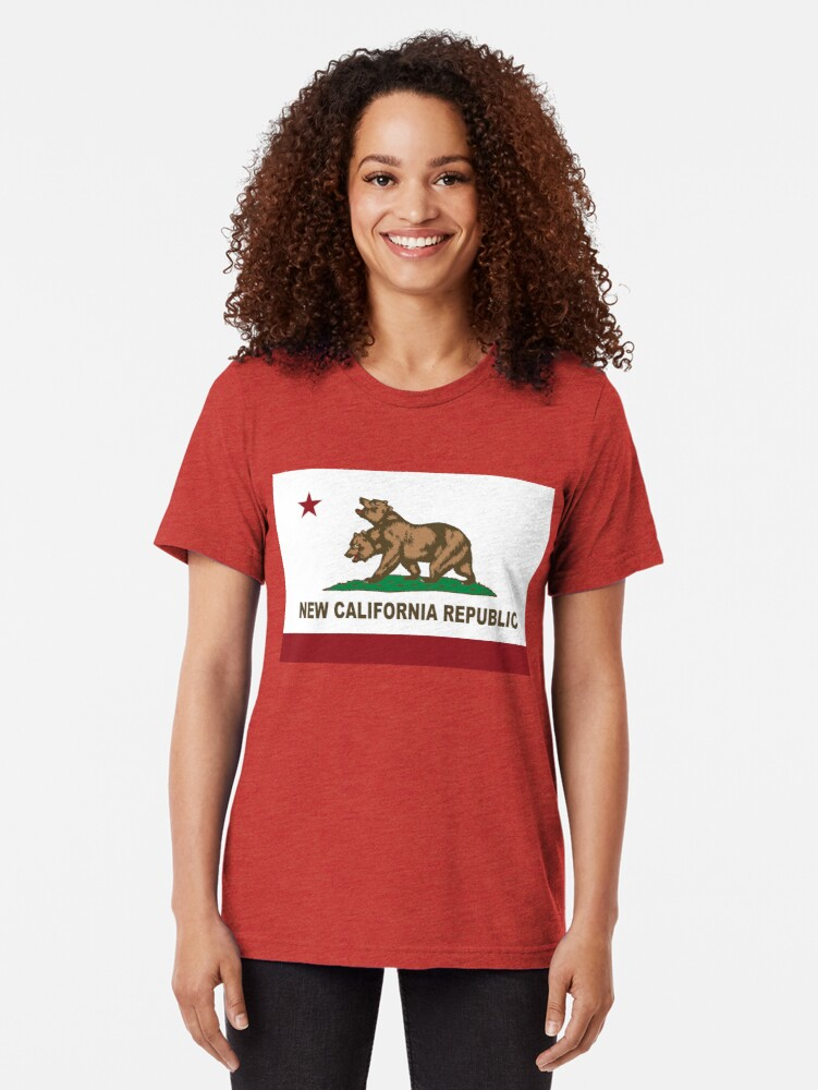 Alternative Ansicht von New California Republik Flagge Distressed Vintage T-Shirt
