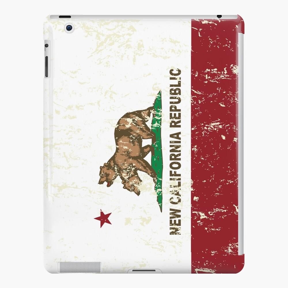 New California Republik Flagge Distressed iPad-Hülle & Skin