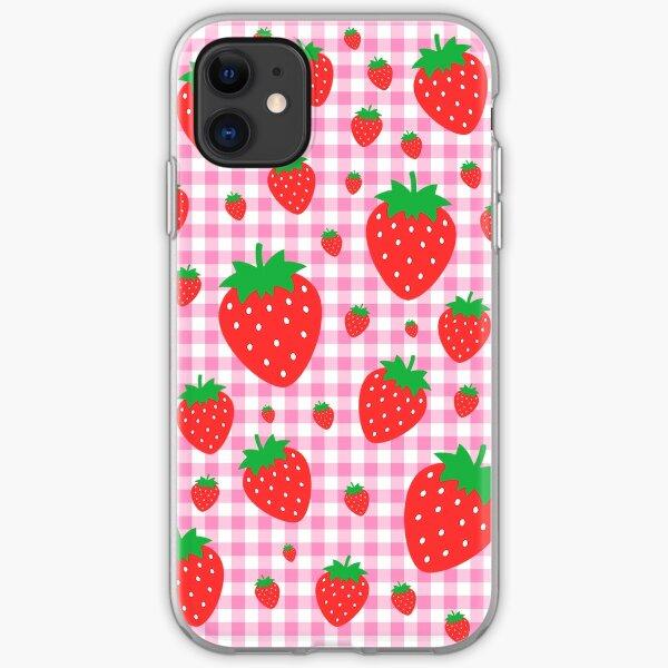 strawberry pattern iPhone Soft Case