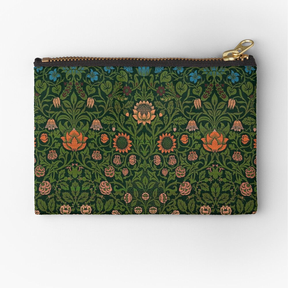 Violet and Columbine by William Morris, 1883 Zipper Pouch