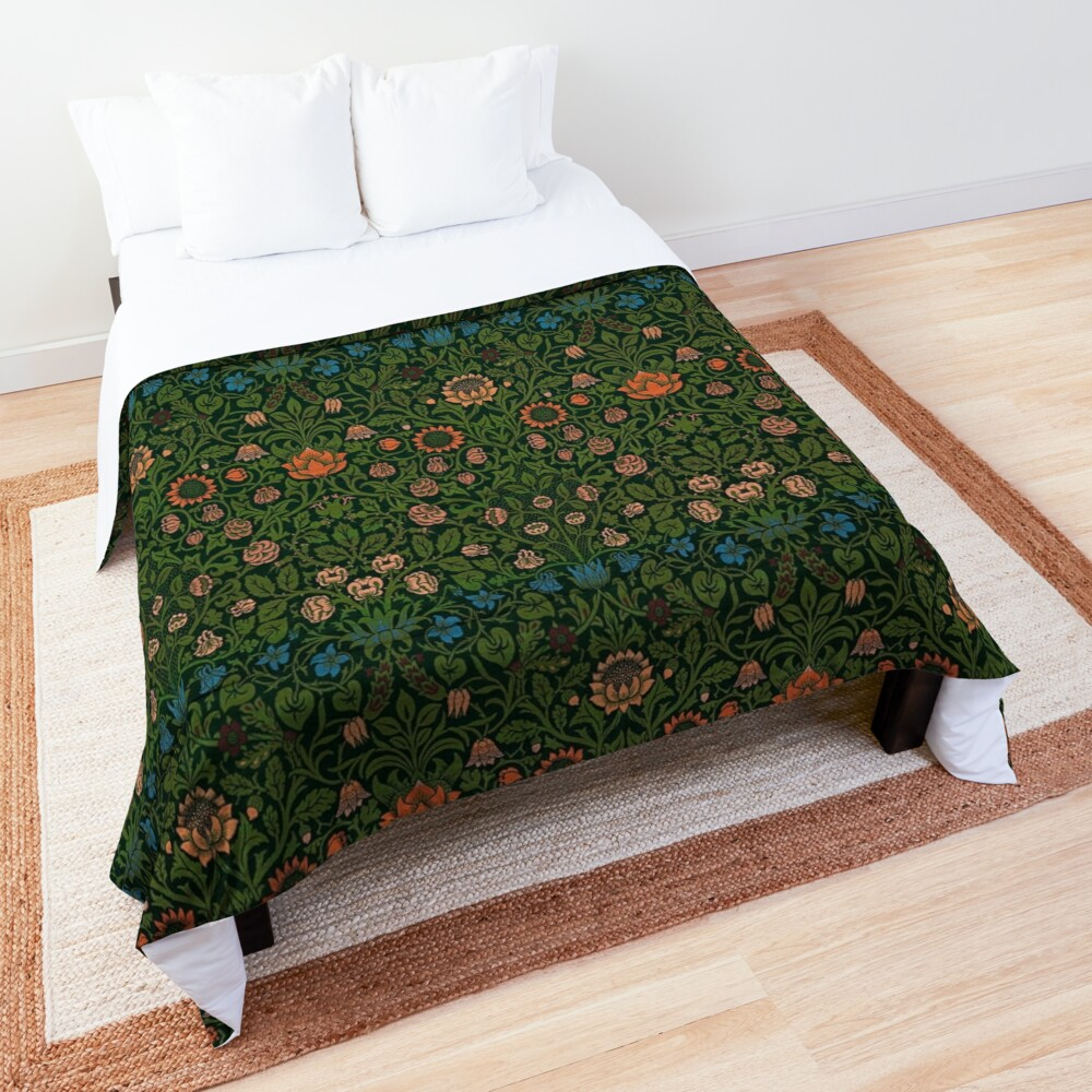 Violet and Columbine by William Morris, 1883 Comforter
