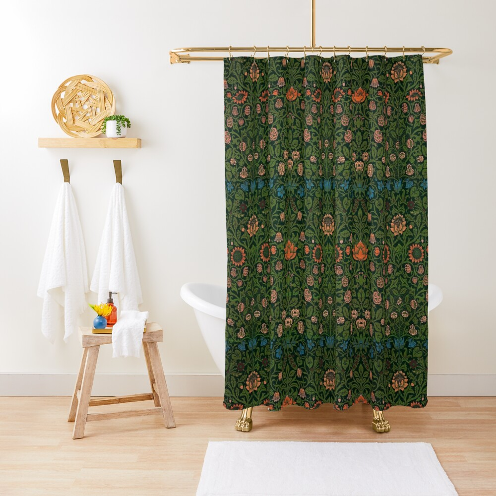Violet and Columbine by William Morris, 1883 Shower Curtain