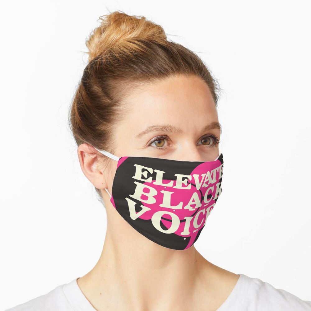 elevate black voices   black lives matter Mask