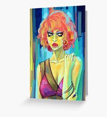 Green Woman Greeting Card