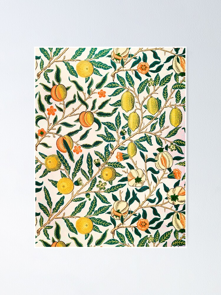Alternate view of Fruit or Pomegranate by William Morris, 1865-66 Poster