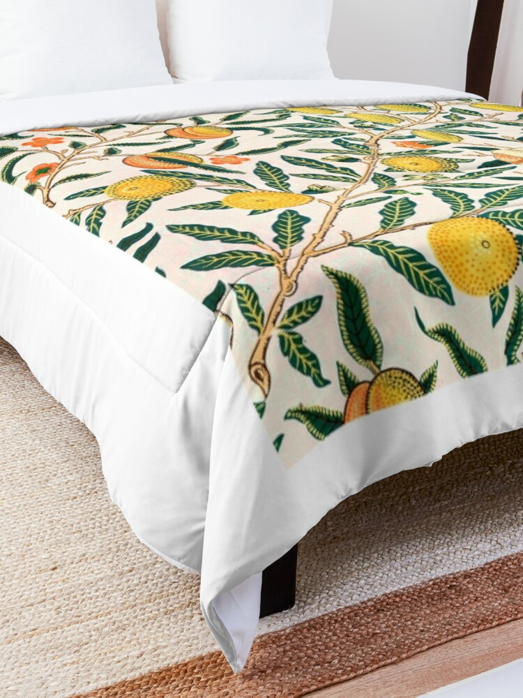 Alternate view of Fruit or Pomegranate by William Morris, 1865-66 Comforter