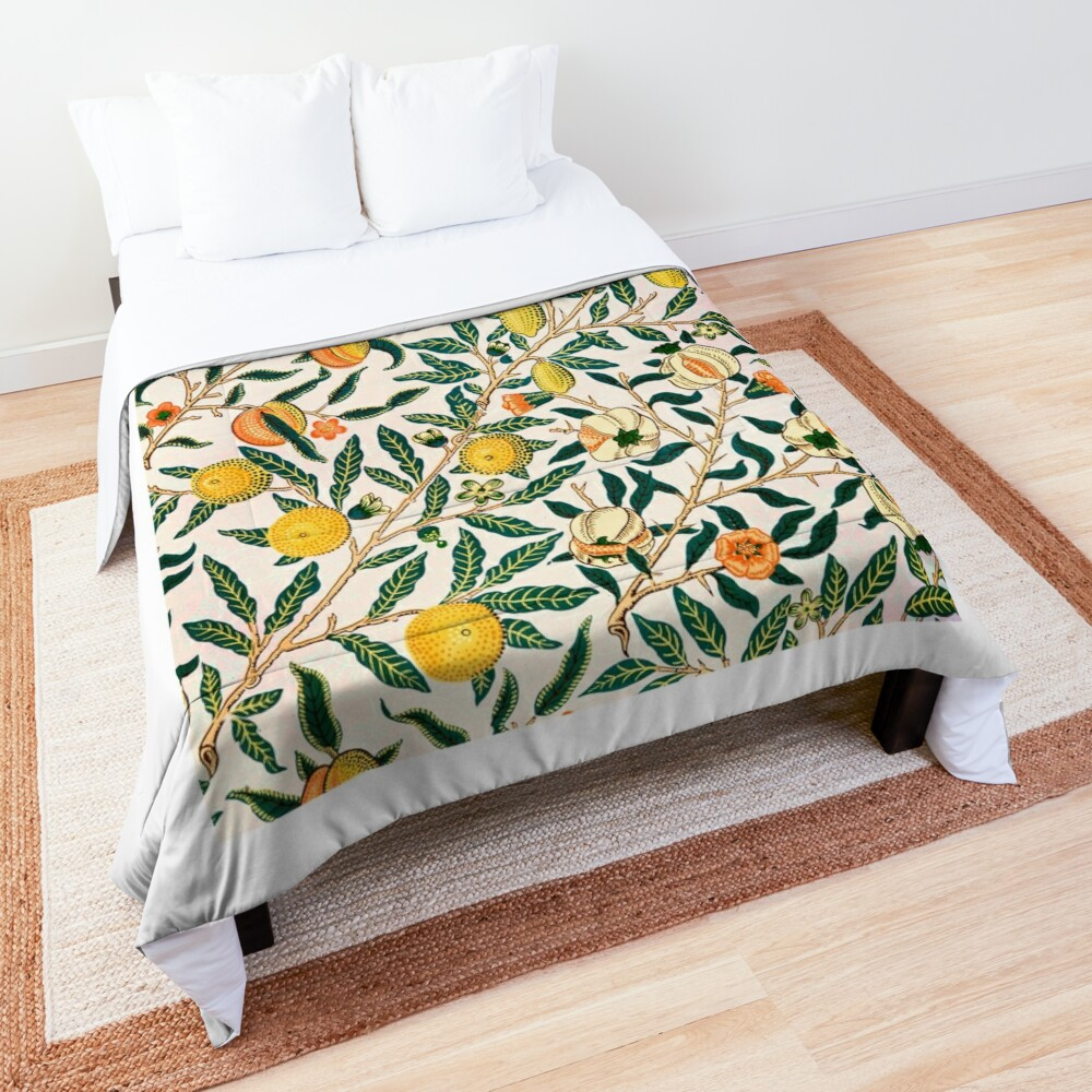 Fruit or Pomegranate by William Morris, 1865-66 Comforter