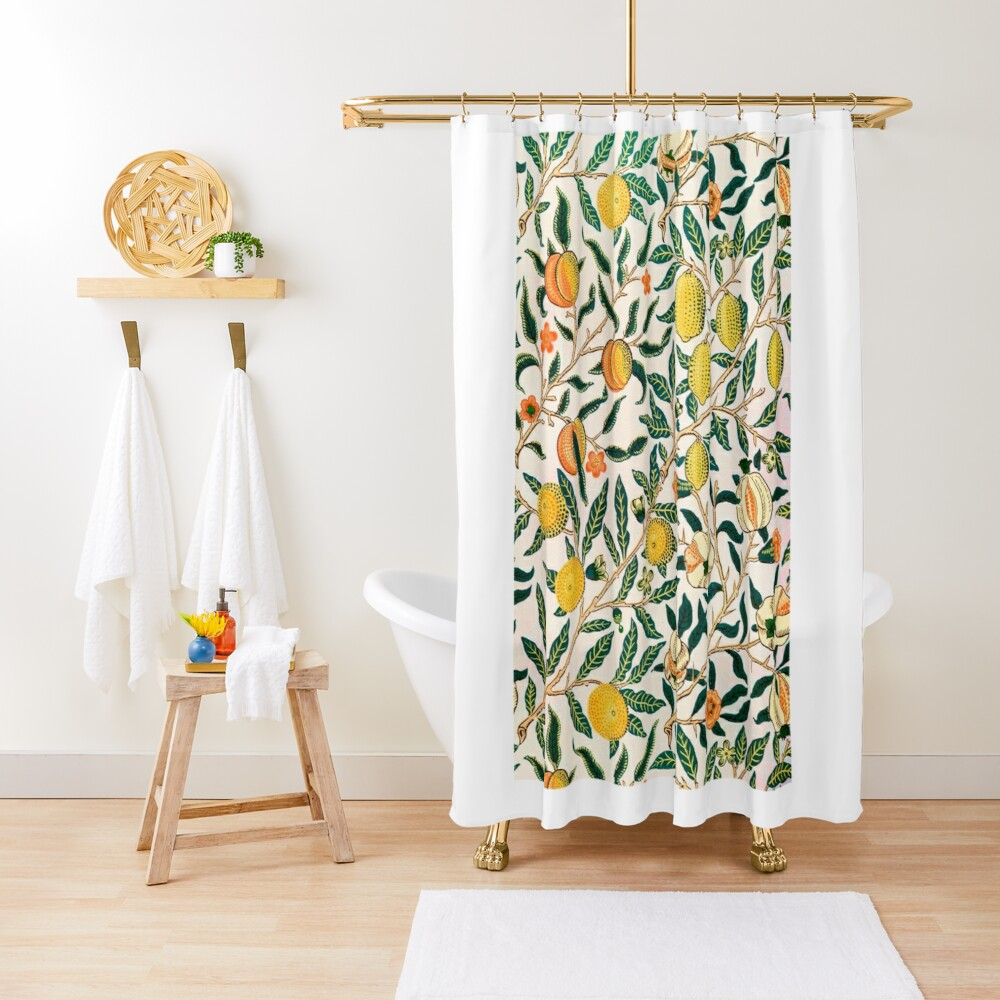 Fruit or Pomegranate by William Morris, 1865-66 Shower Curtain