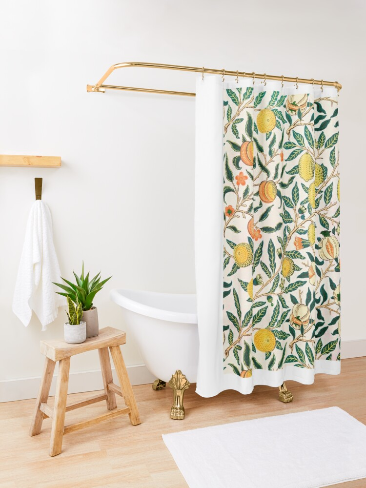 Alternate view of Fruit or Pomegranate by William Morris, 1865-66 Shower Curtain