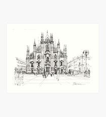 Duomo di Milano - schizzo Art Print