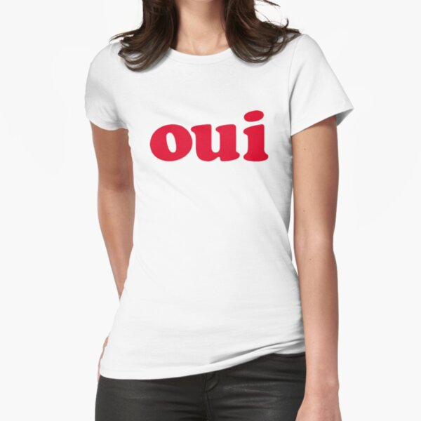 oui - red Fitted T-Shirt