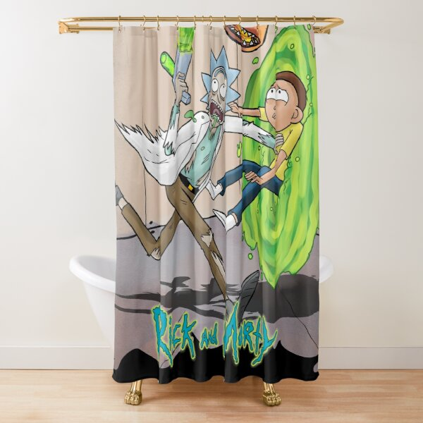 oh geezz! the monster appeared suddenly Shower Curtain