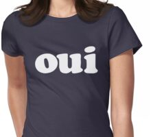 oui - white Womens Fitted T-Shirt