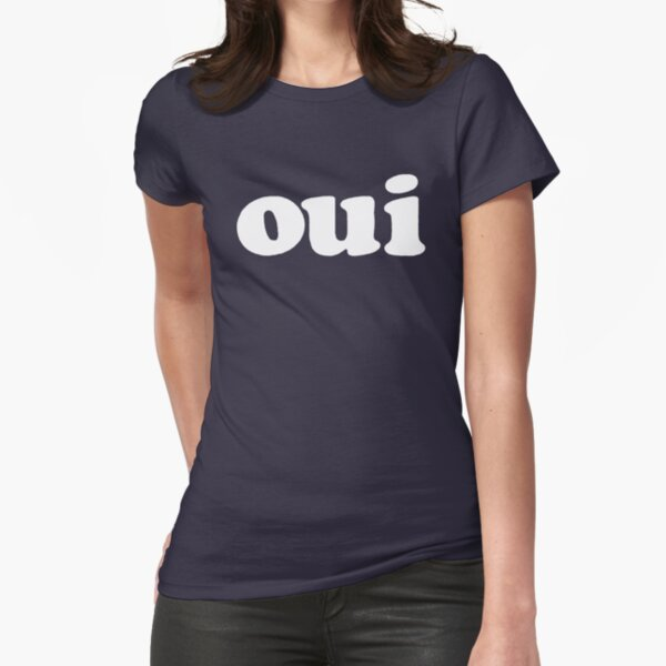 Sofia Coppola French Oui - white Fitted T-Shirt