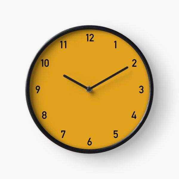Numéros d'horloge moutarde 2 Horloge