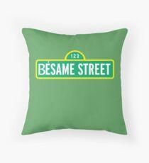 Besame street Throw Pillow