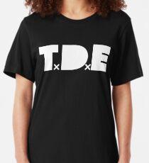 TDE - White Slim Fit T-Shirt