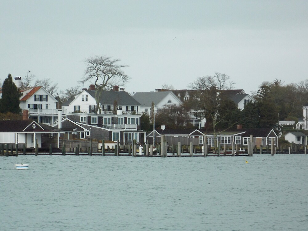 Edgartown Harbor from Chappy ferry by Choux