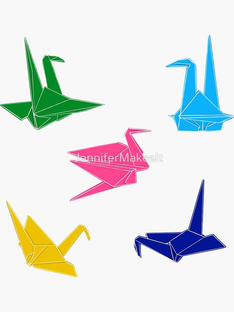 Origami Bird Sticker Pack by JenniferMakesIt