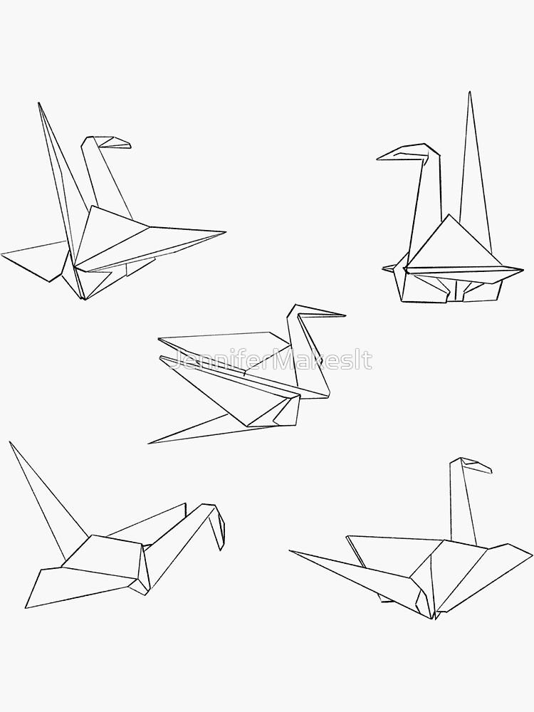 Origami Bird Sticker Pack 2 by JenniferMakesIt
