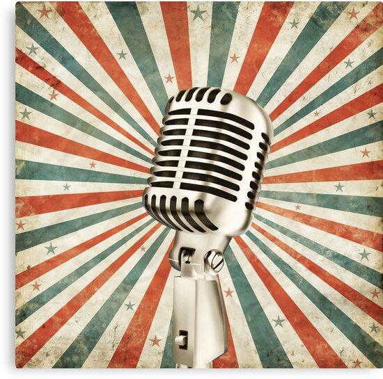 Lienzos Microfono Vintage De Naphotos Redbubble