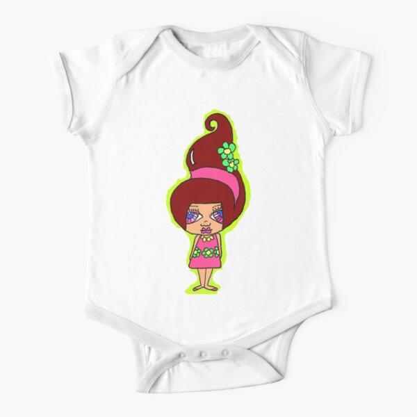 Rosaline Burgundy Short Sleeve Baby One-Piece