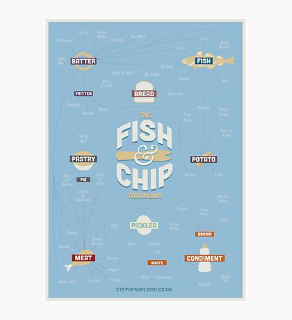 The Fish & Chip Taxonomy Photographic Print