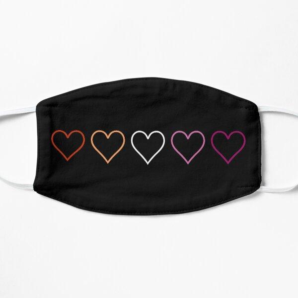 Subtle lesbian hearts Flat Mask