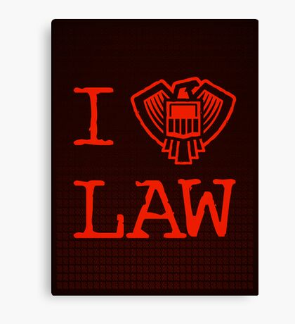 Law Lover Canvas Print