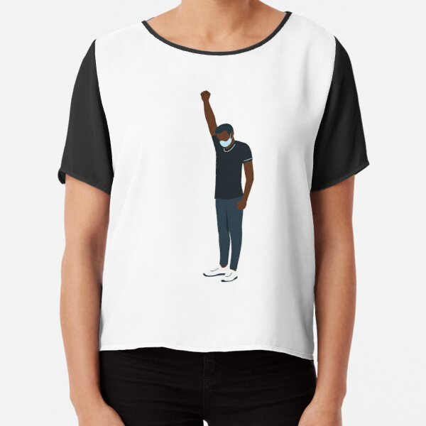 Fist Up For #BLM (Male) Black lives matter - Justice warriors Chiffon Top