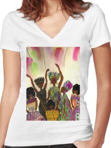 Tapestry Women's Fitted V-Neck T-Shirt